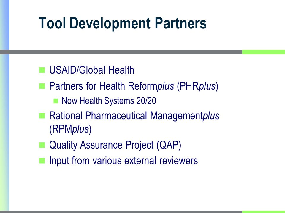 Modules Used by Country Modules usedAngBenSSPakMalAzeGhYem Core Governance Private Sector Not available as a separate module Service Delivery N/A Human Resources Pharmaceutical Info Systems Financing