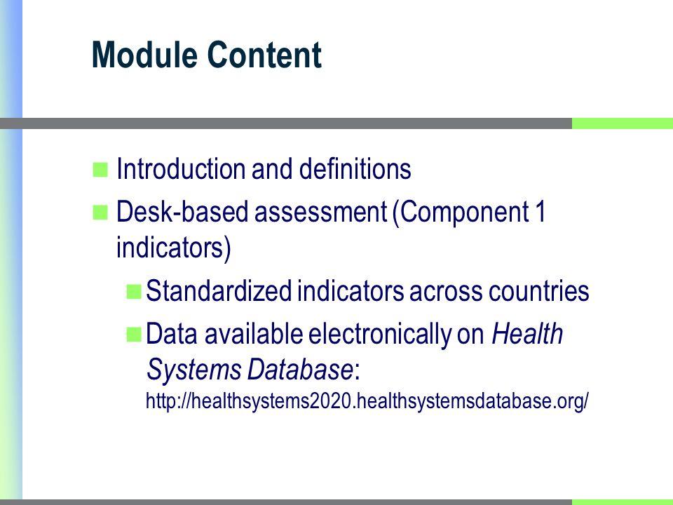 Web-based Data Tool - Health Systems Database http://healthsystems2020.healthsystemsdatabase.org/