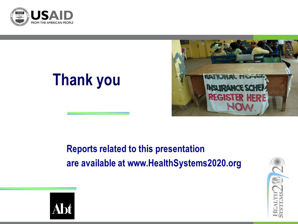 Thank you Reports related to this presentation are available at www.HealthSystems2020.org