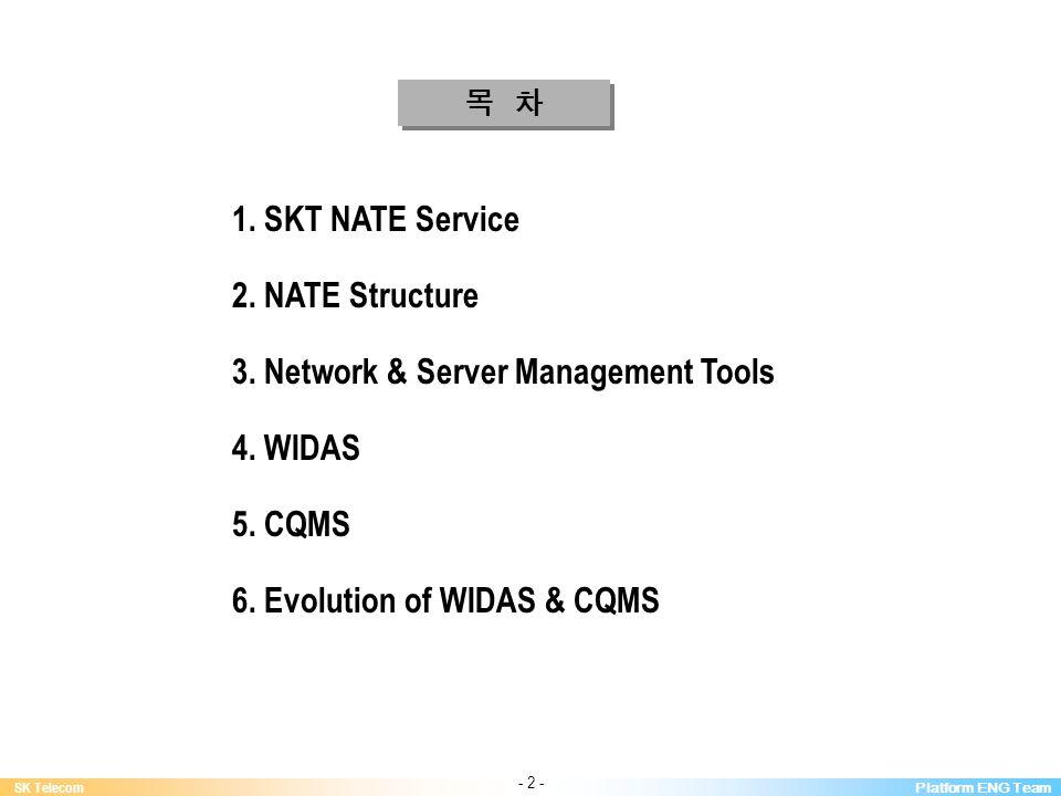 Platform ENG Team SK Telecom - 2 - 1. SKT NATE Service 2.
