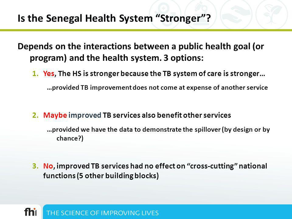 Is the Senegal Health System Stronger.