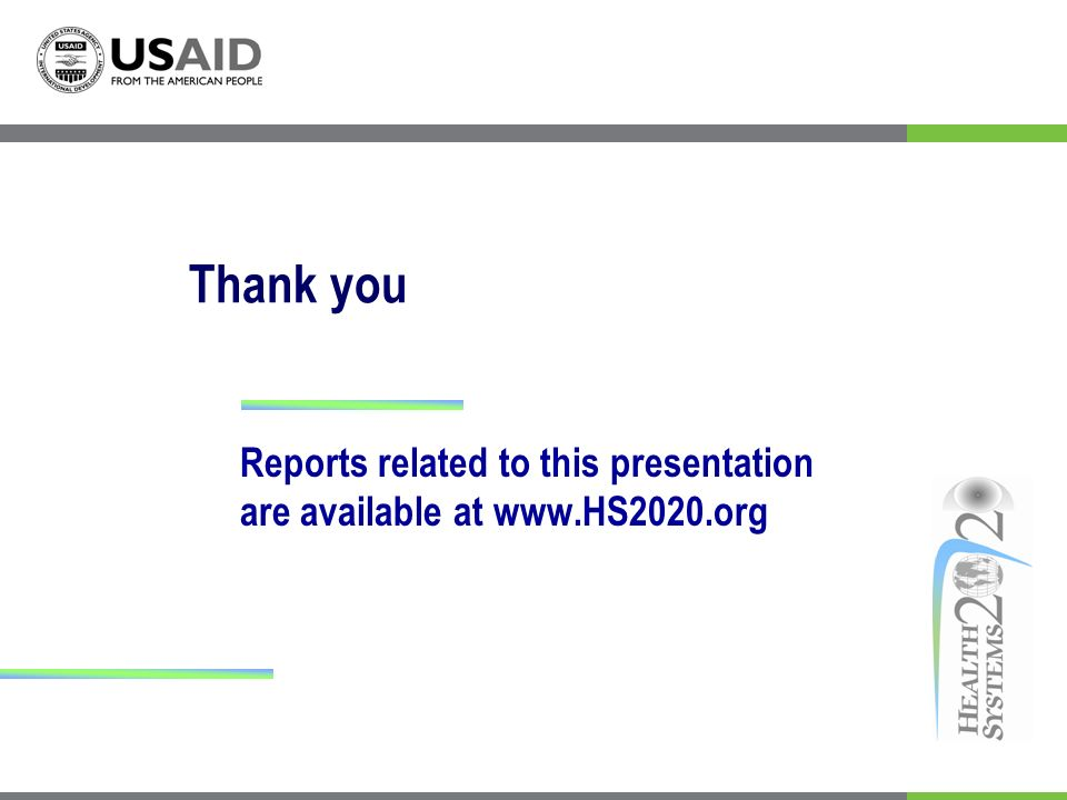 Thank you Reports related to this presentation are available at www.HS2020.org