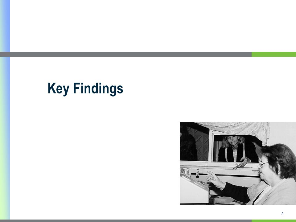 3 Key Findings