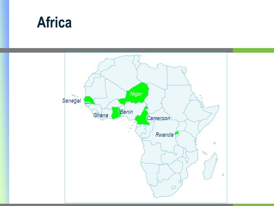 Senegal Ghana Benin Niger Cameroon Rwanda Africa