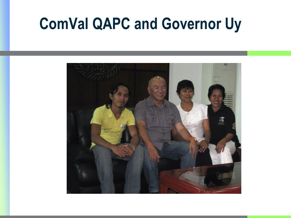 ComVal QAPC and Governor Uy