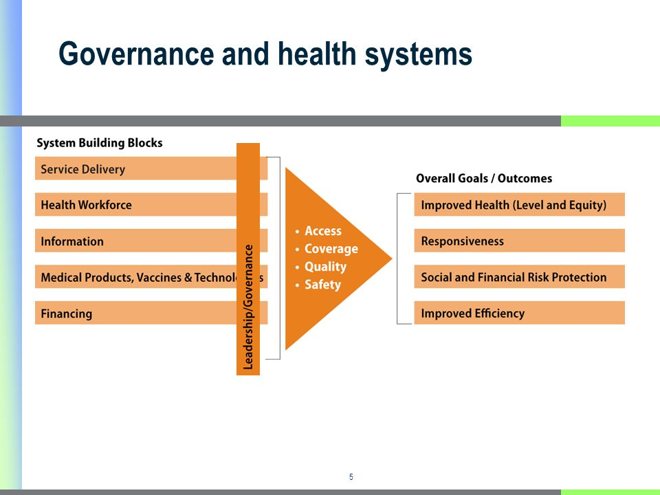 5 Governance and health systems