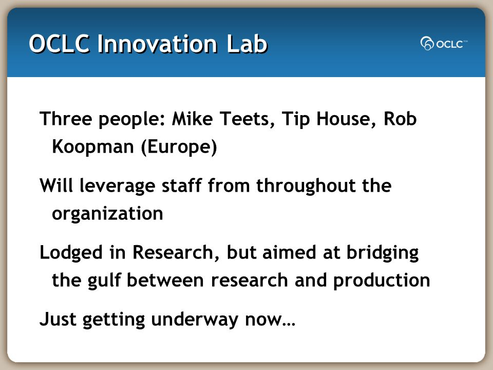 Why an Innovation Lab.