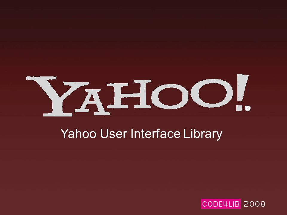 Yahoo User Interface Library