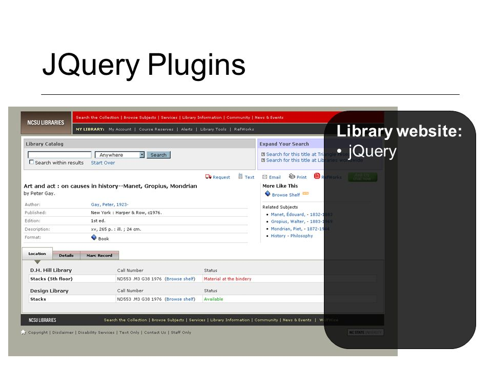 JQuery Plugins Library website: jQuery