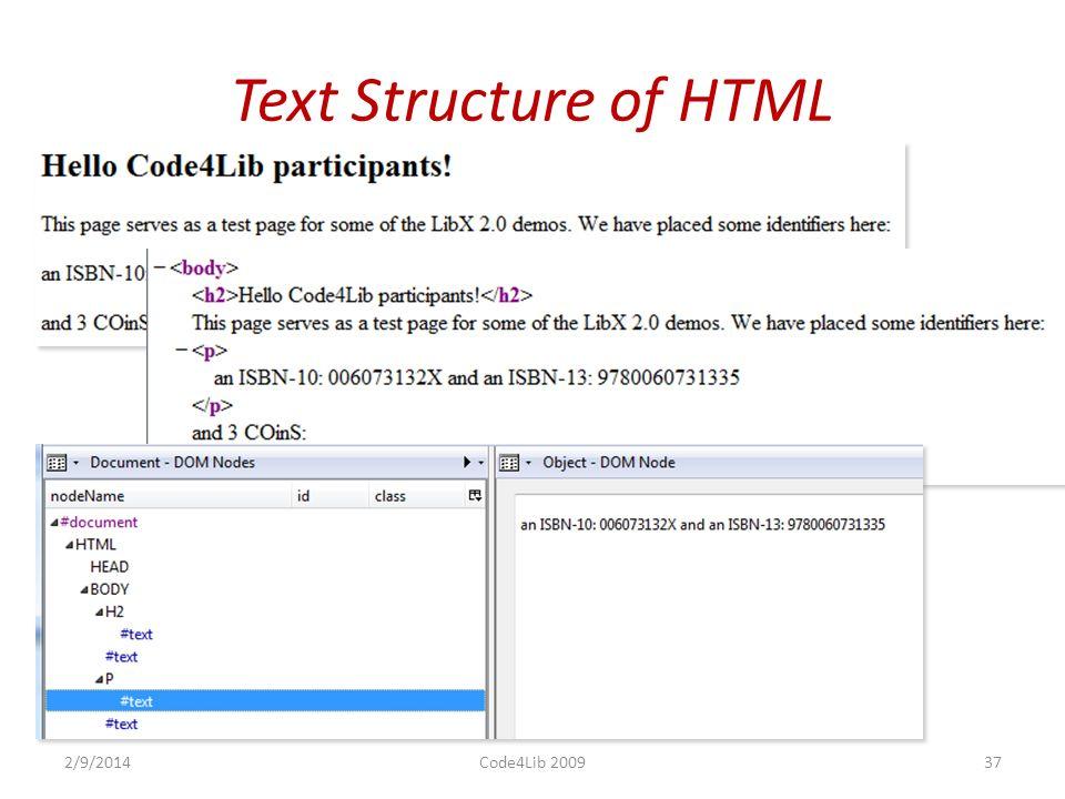 LIBAPP EXAMPLE: AUTOLINKING 2/9/2014Code4Lib 200936