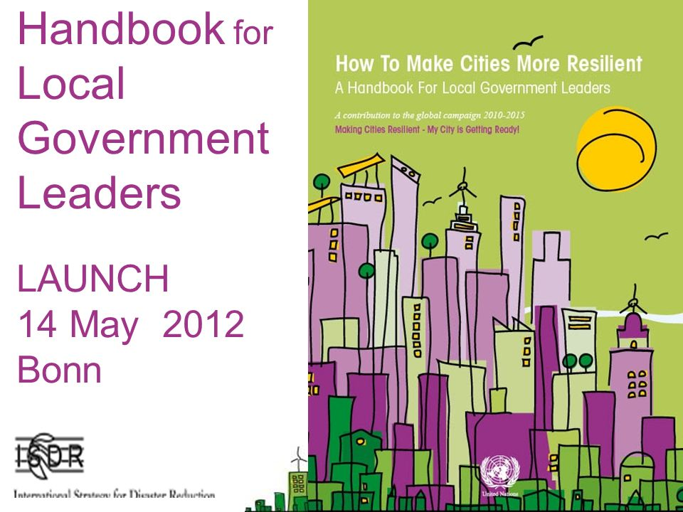 Handbook for Local Government Leaders LAUNCH 14 May 2012 Bonn