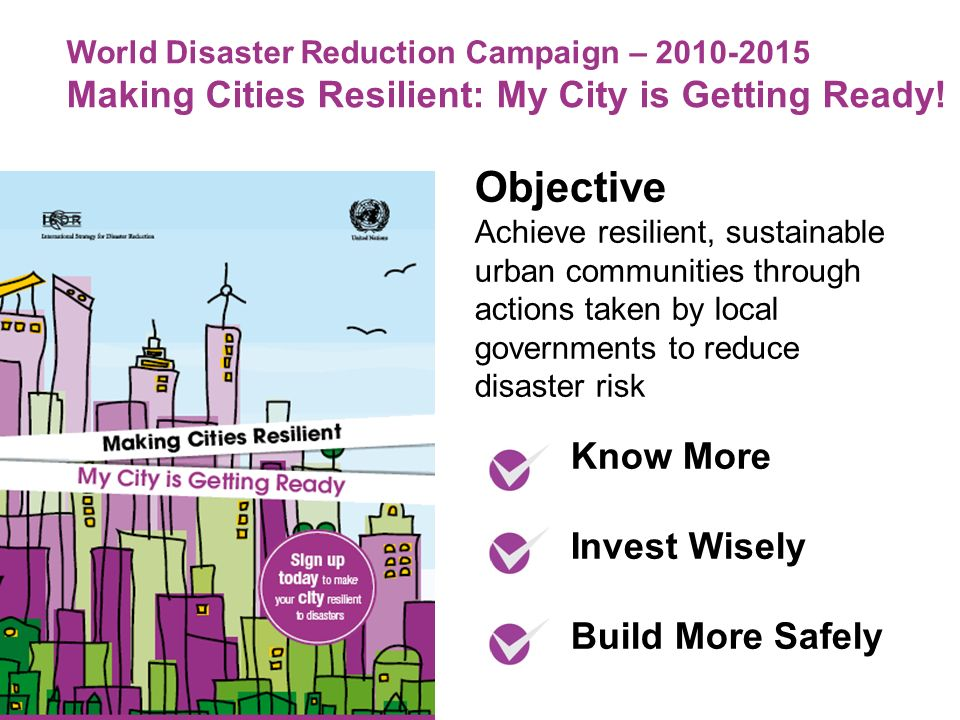 World Disaster Reduction Campaign – Making Cities Resilient: My City is Getting Ready.