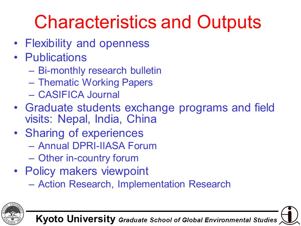 Kyoto University Graduate School of Global Environmental Studies Global Open Learning Forum on Risk Education (GOLFRE) Launched in WCDR Kobe as a partnership –Thematic Session 3.1 Kyoto University is the founding member Operated by SEEDS India Network of Asian NGOs Frontier Disaster Practitioners University Knowledge Field Practice
