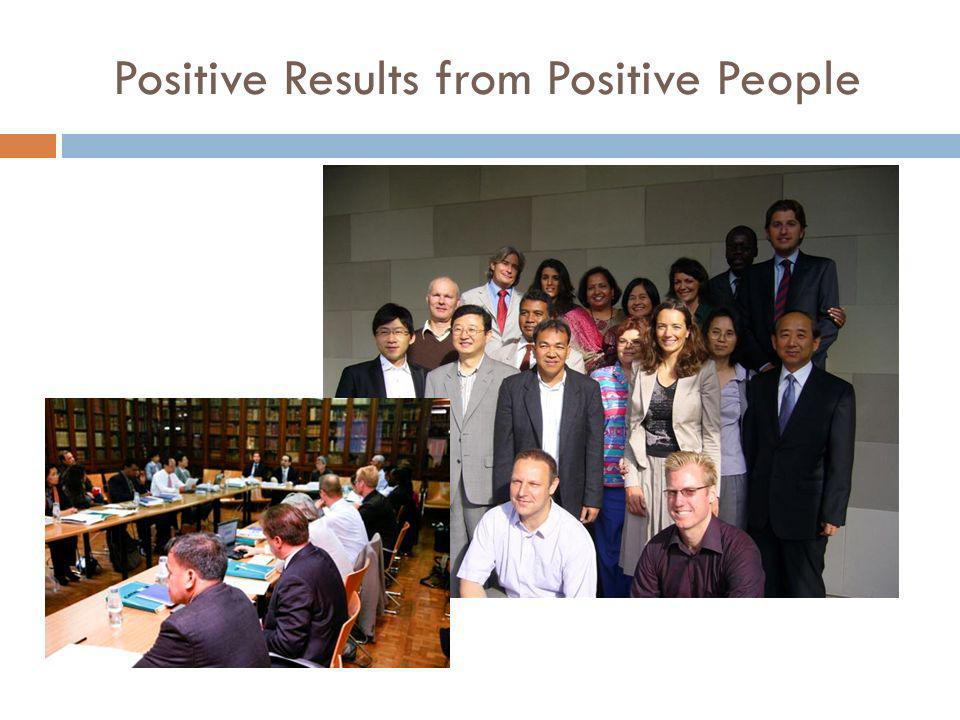 Positive Results from Positive People