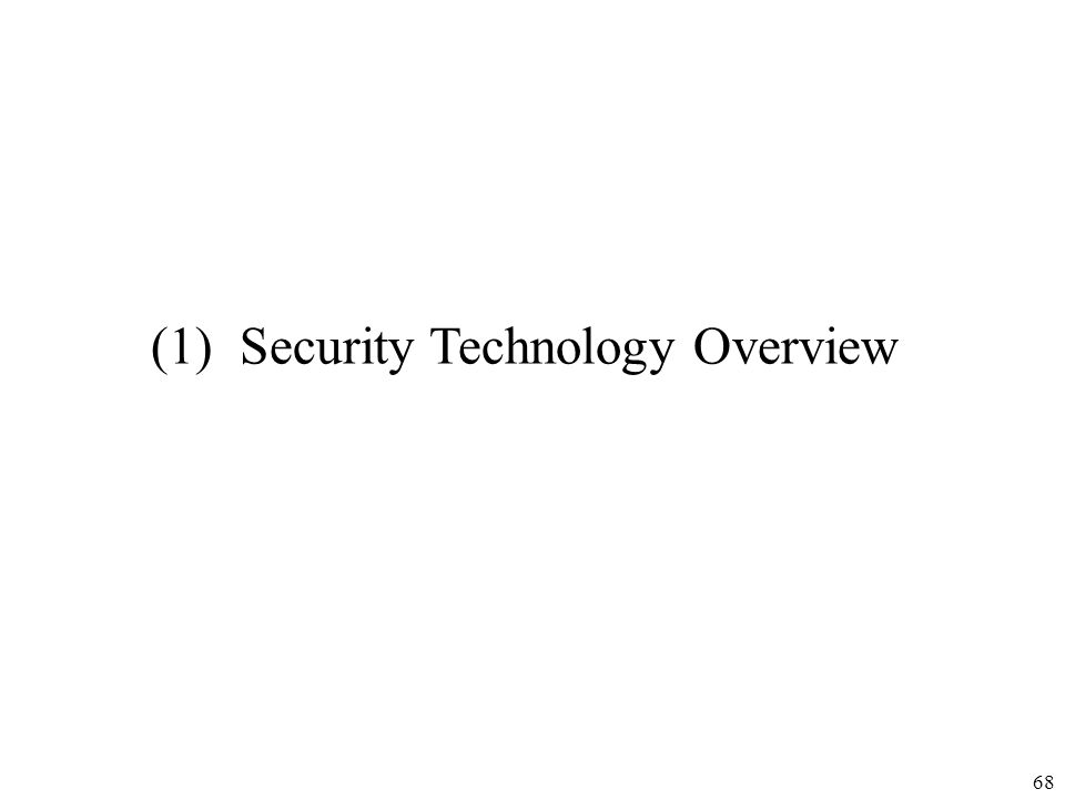 68 (1) Security Technology Overview