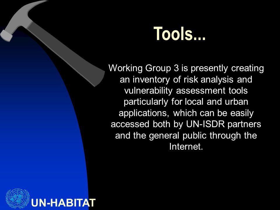 UN-HABITAT Tools...