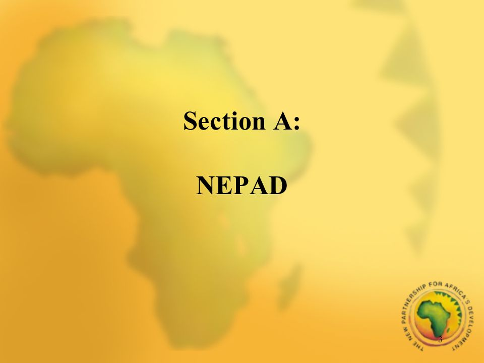 3 Section A: NEPAD