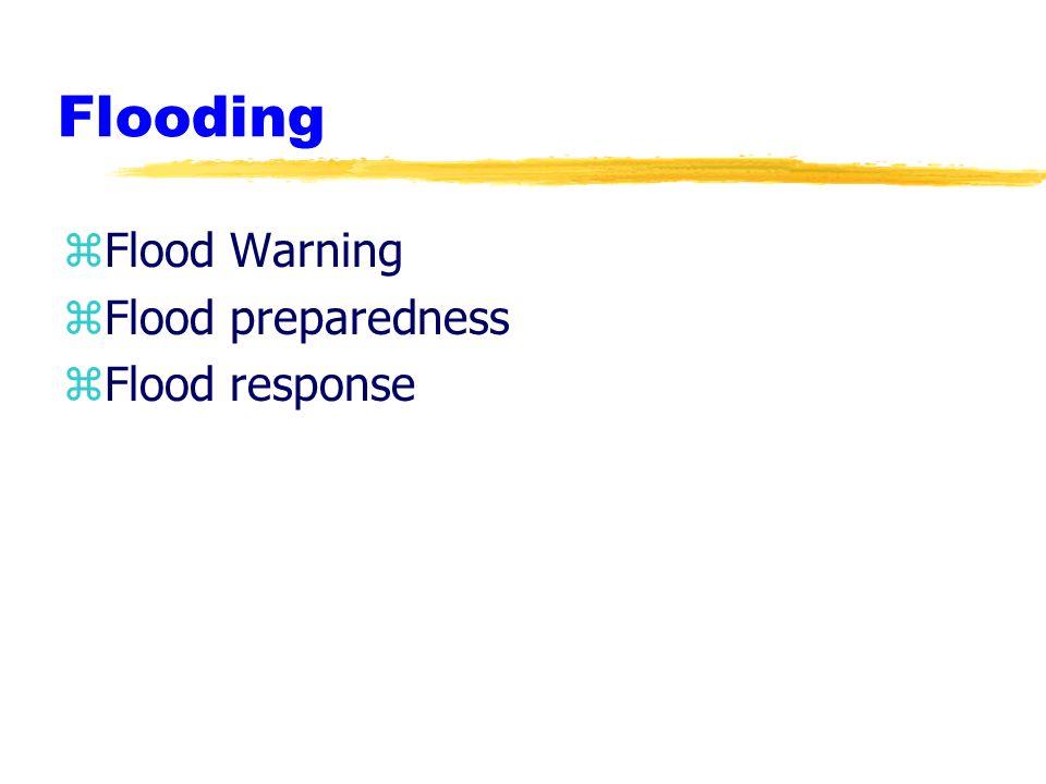 Flooding zFlood Warning zFlood preparedness zFlood response