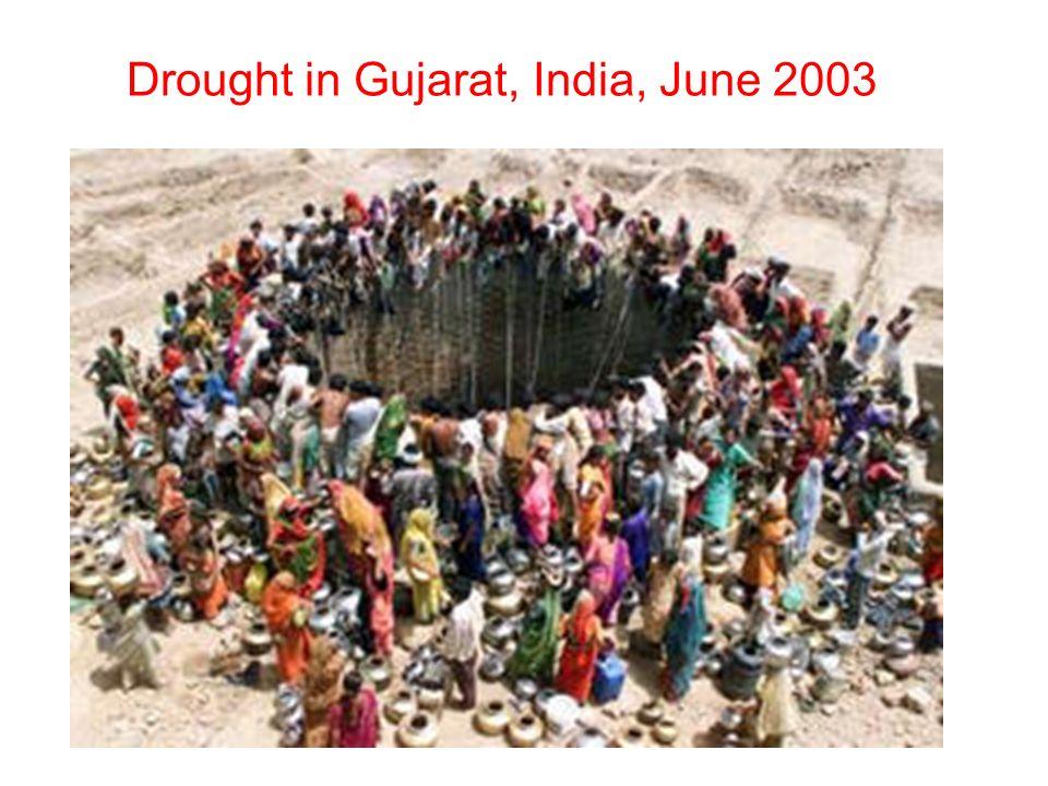 Drought in Gujarat, India, June 2003