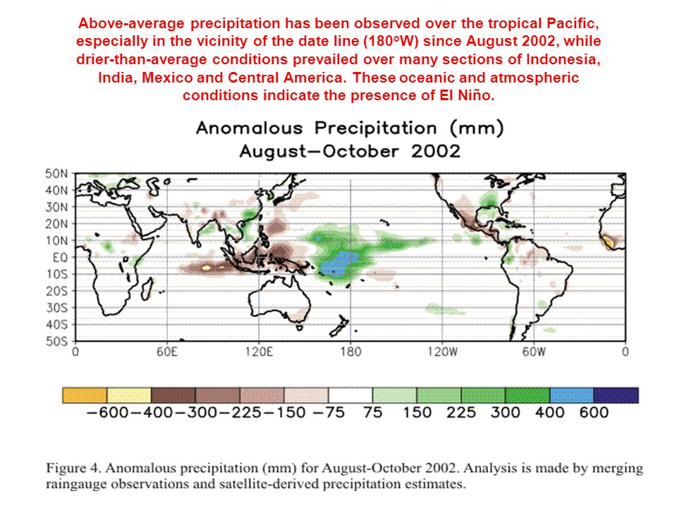 The El-Niño phenomena leads to floods and droughts throughout the tropics and subtropics, though with different spatial patterns El Niño years La Niña years The frequency, persistence and magnitude of El-Niño events have increased in the last 20 years, and this trend is projected to continue.