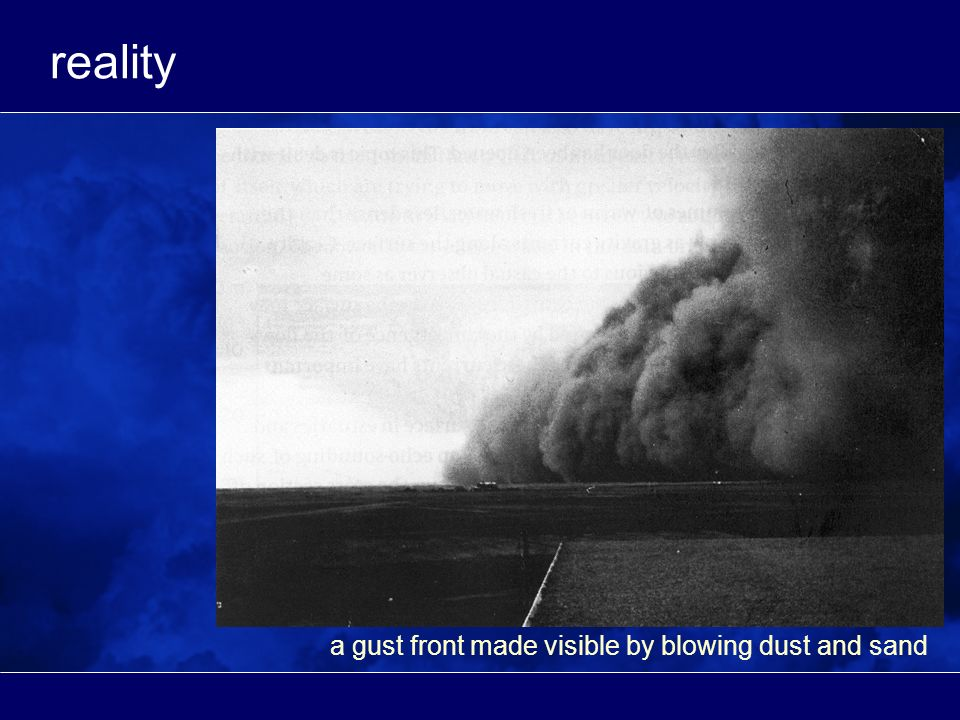 reality a gust front made visible by blowing dust and sand