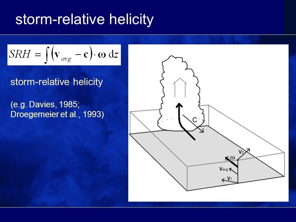 storm-relative helicity (e.g. Davies, 1985; Droegemeier et al., 1993)