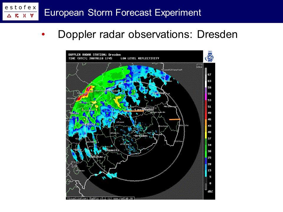 European Storm Forecast Experiment Doppler radar observations: Dresden