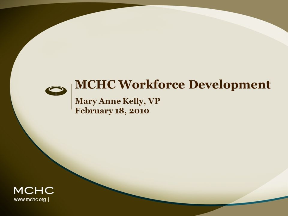 www.mchc.org | MCHC Workforce Development Mary Anne Kelly, VP February 18, 2010