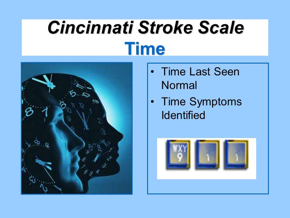 Time Last Seen Normal Time Symptoms Identified Cincinnati Stroke Scale Time
