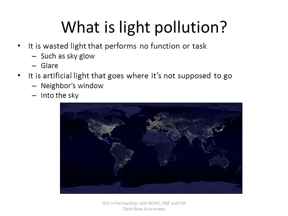 What is light pollution.