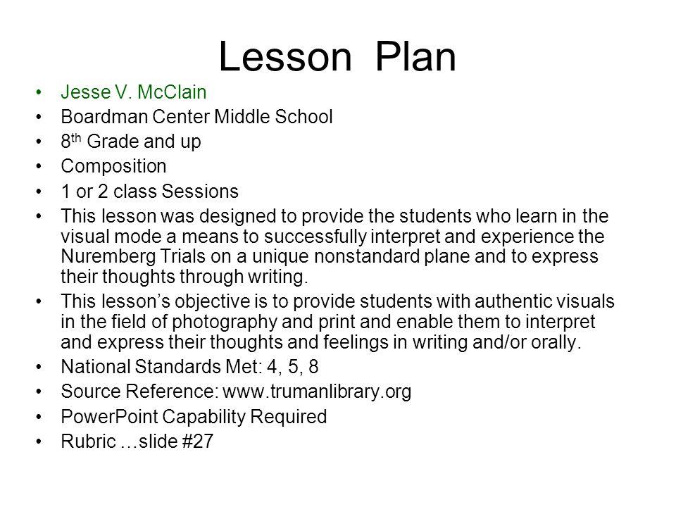 Lesson Plan Jesse V.