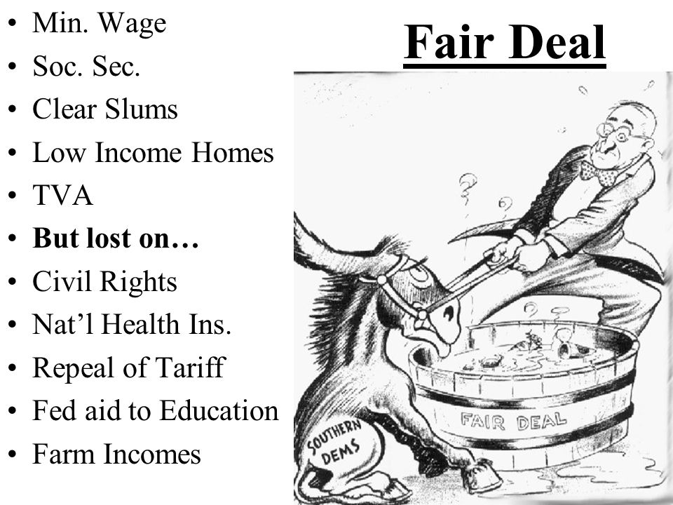 Fair Deal Min. Wage Soc. Sec.