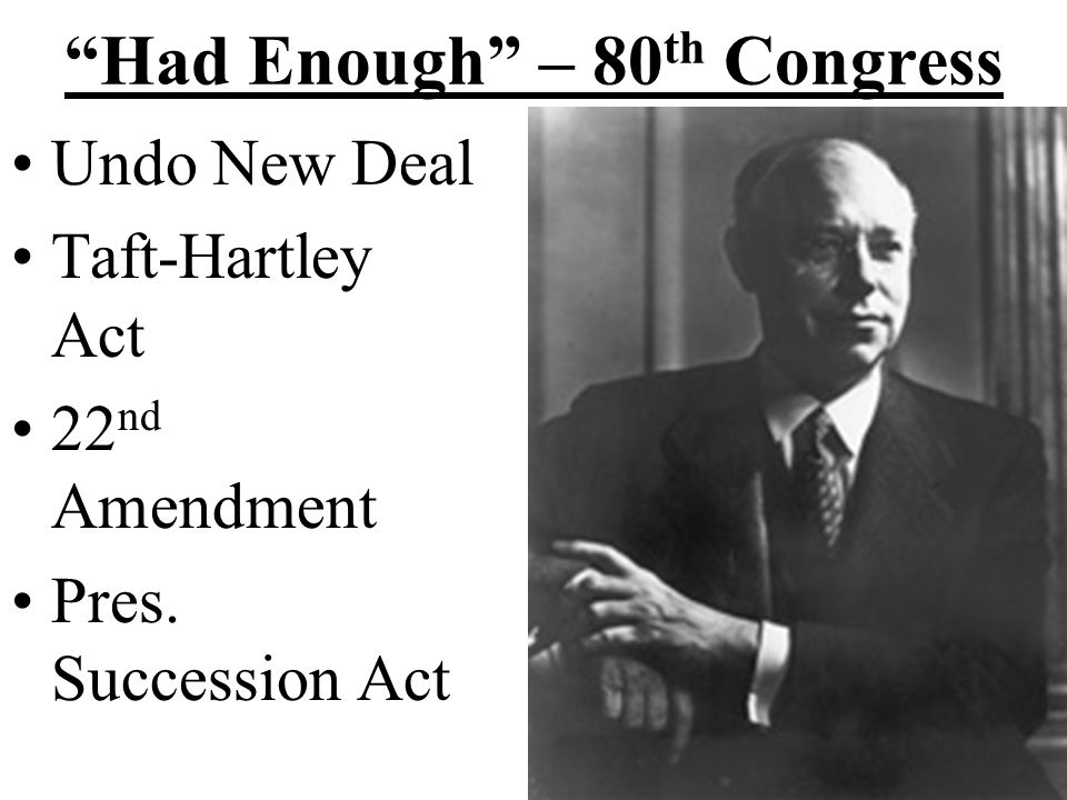Truman vs. Congress Fair Deal Committee on Civil Rights 1946 Desegregation of Armed Forces1948