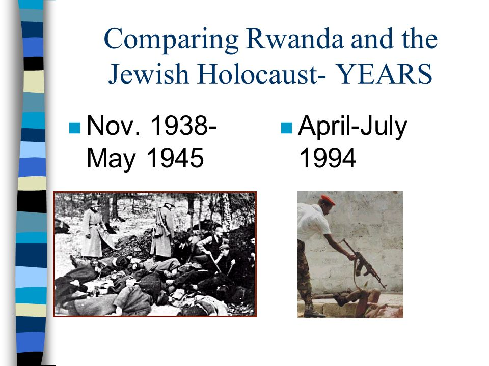 Analyzing the years… n What difference do you see in the time that these genocides occurred.