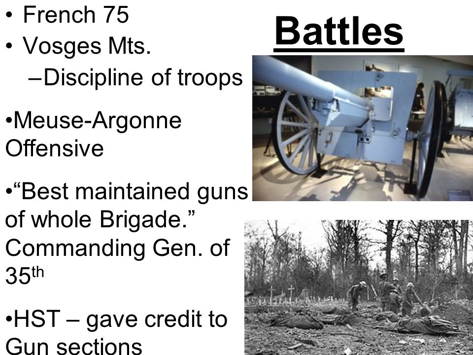 Battles French 75 Vosges Mts.