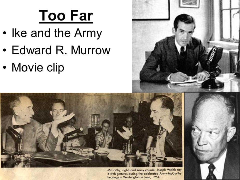 Too Far Ike and the Army Edward R. Murrow Movie clip