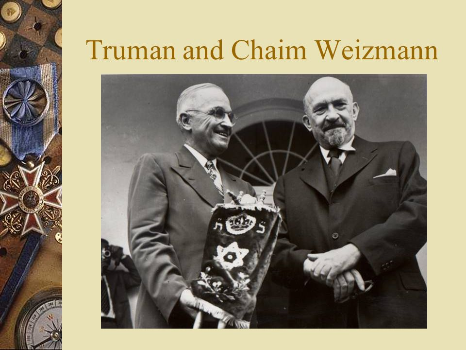 Truman and Chaim Weizmann