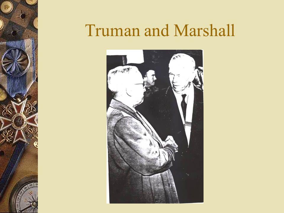 Truman and Marshall
