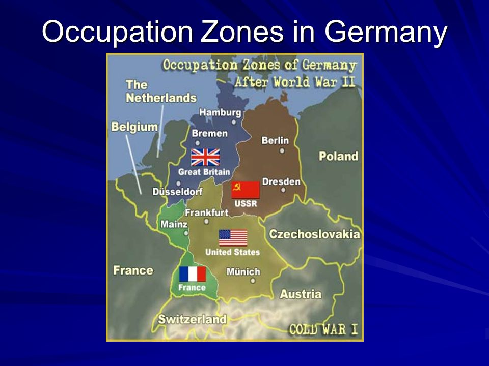 Occupation Zones in Germany