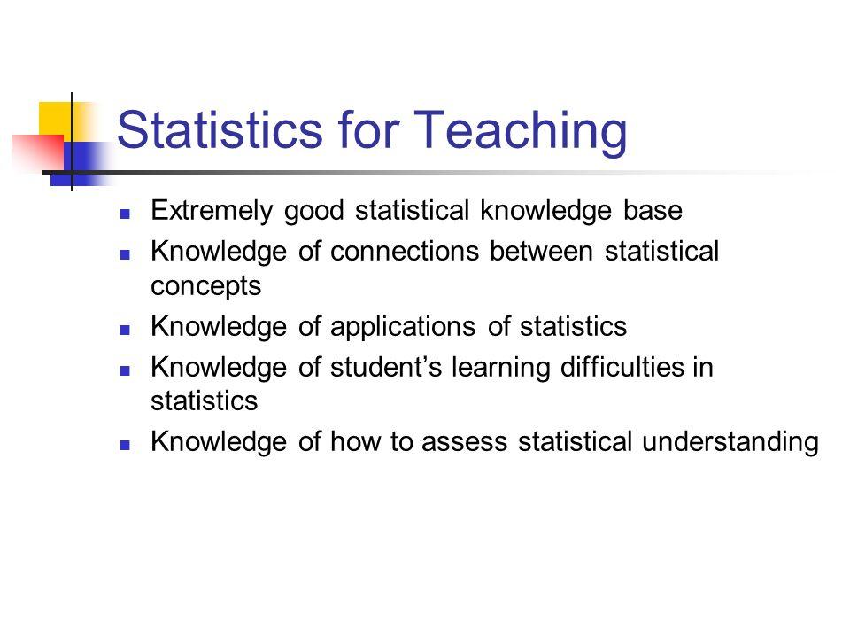 Who are teachers of Statistics .Who will prepare them.