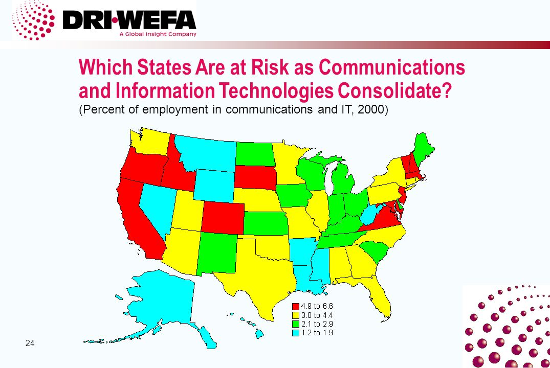 24 Which States Are at Risk as Communications and Information Technologies Consolidate.