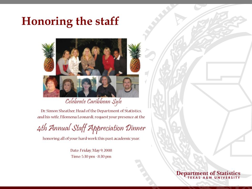 Honoring the staff