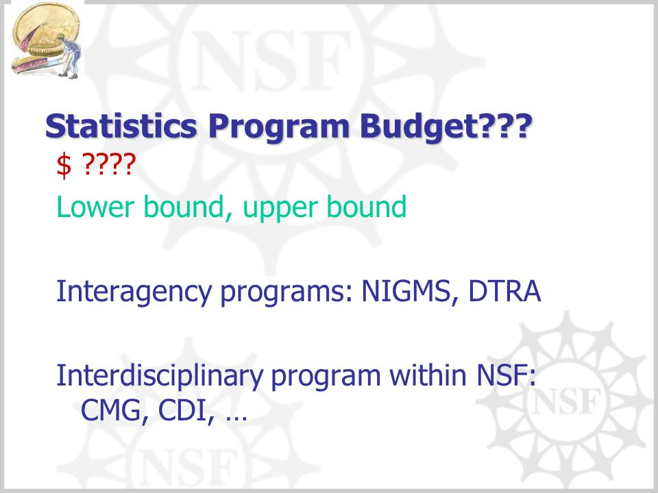 Statistics Program Budget . $ .