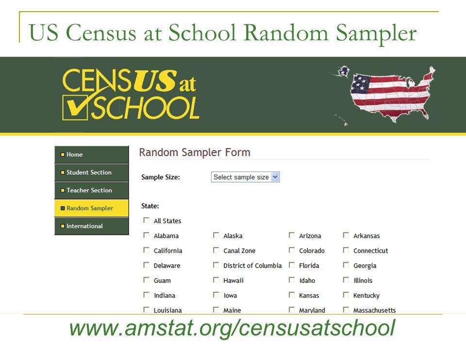 US Census at School Random Sampler www.amstat.org/censusatschool