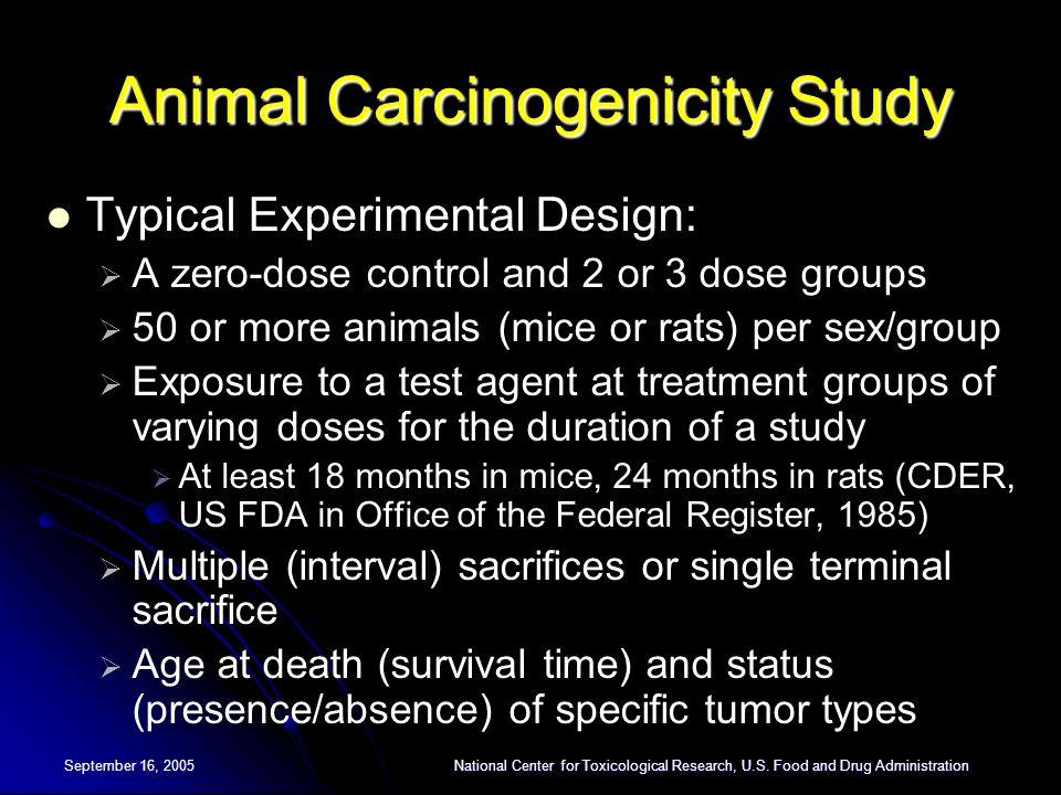 References Ahn H, Kodell RL (1998).Analysis of long-term carcinogenicity studies.