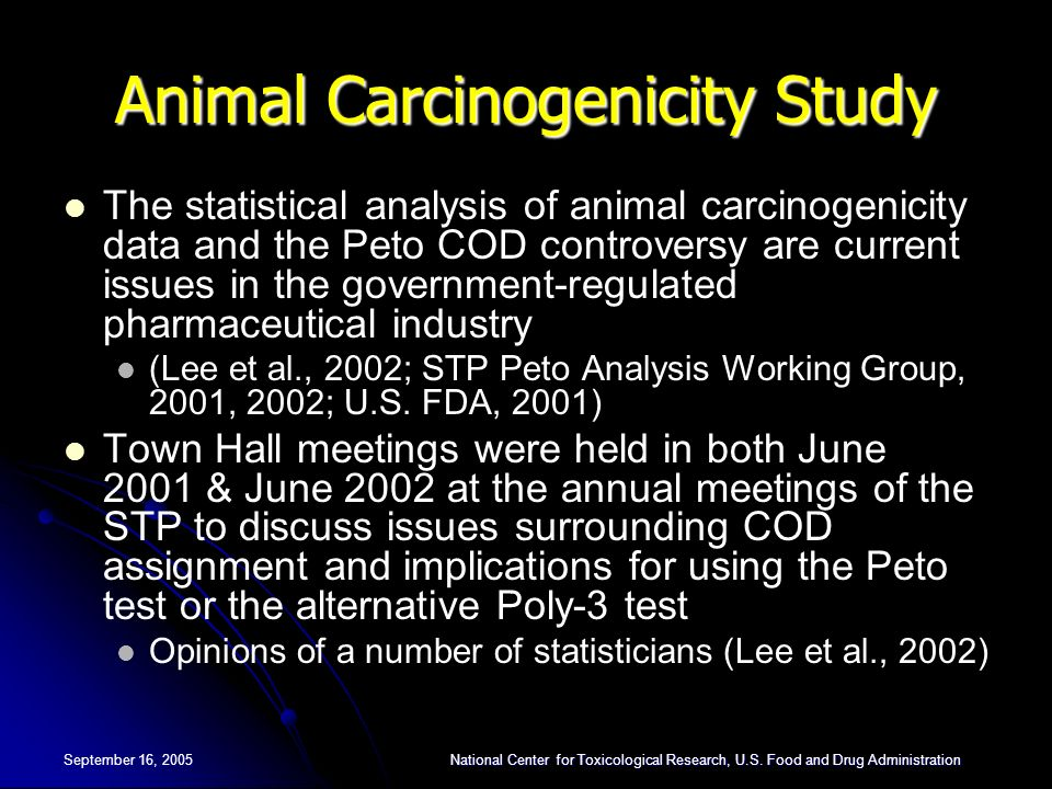September 16, 2005National Center for Toxicological Research, U.S.