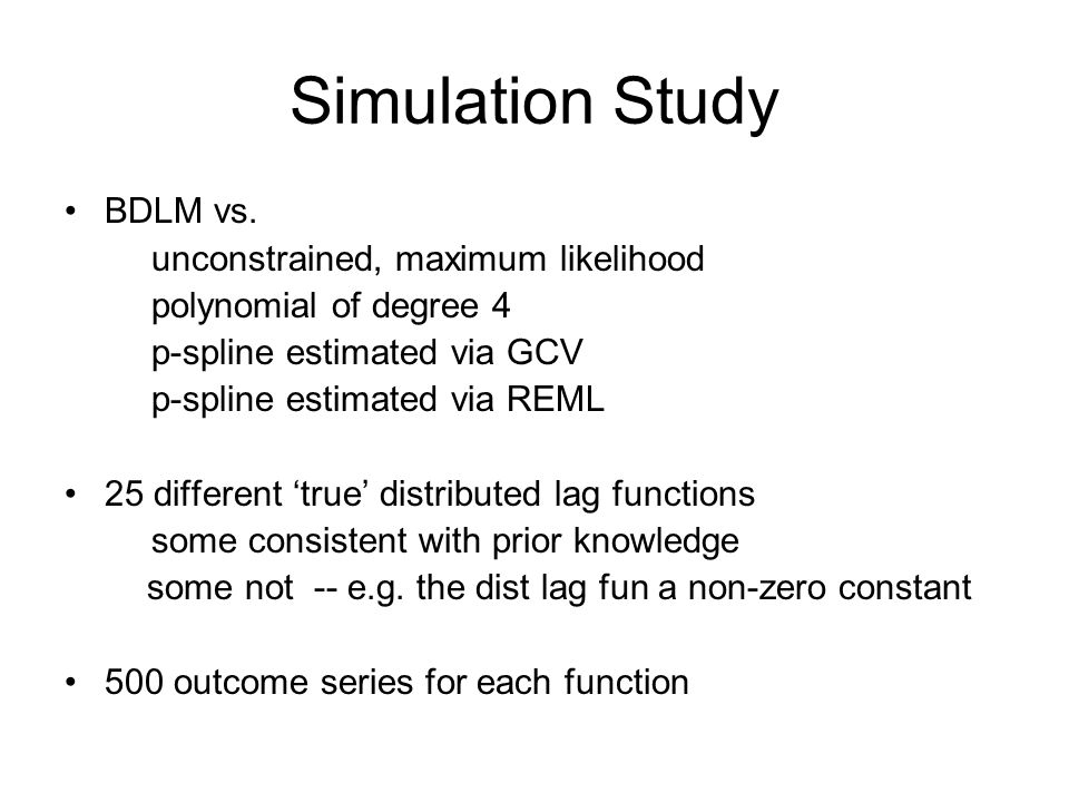 Simulation Study BDLM vs.