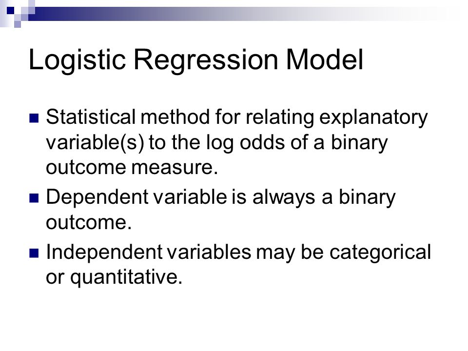 p is the probability associated with the binary outcome measure.