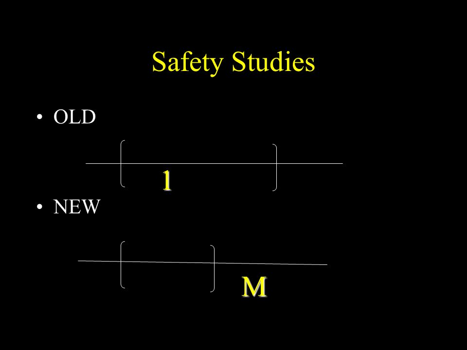 Safety Studies OLD NEW 1 M