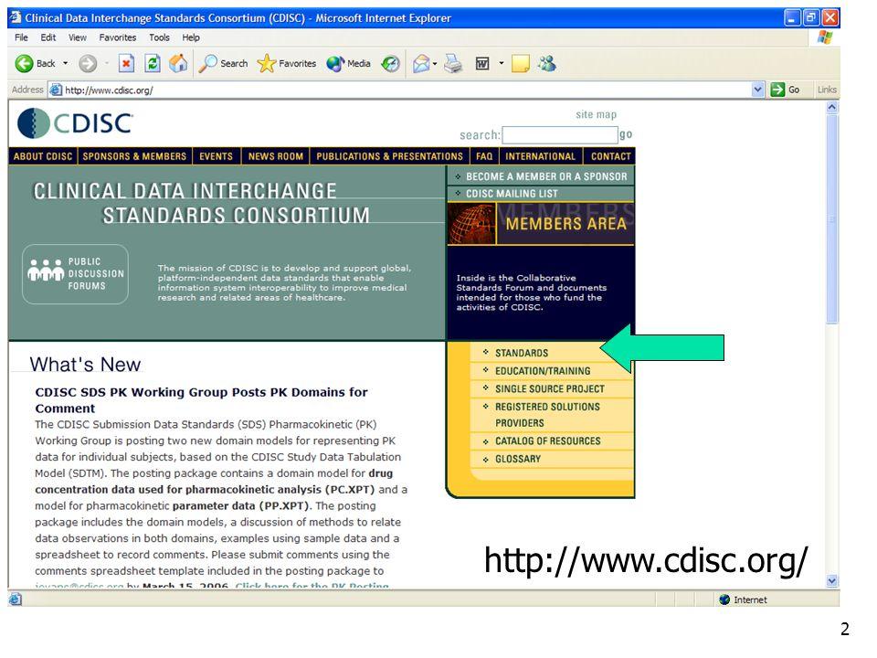 2 http://www.cdisc.org/